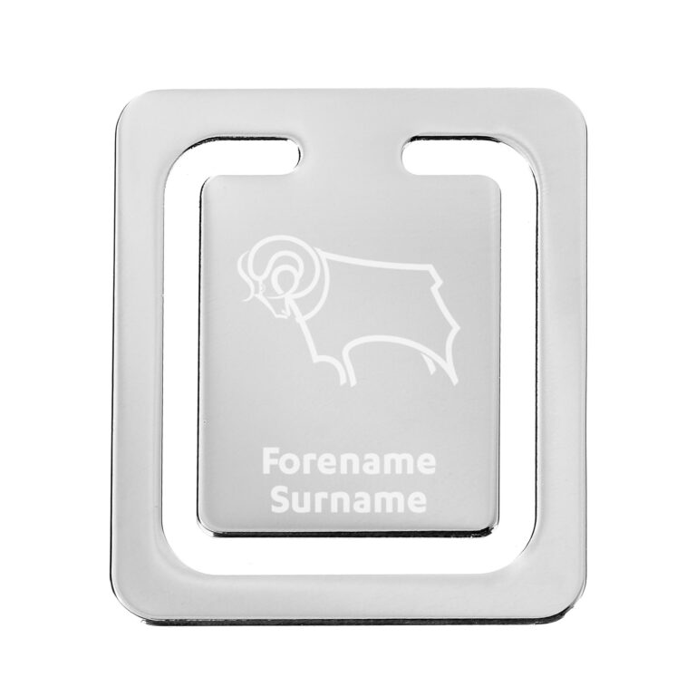 Personalised Derby County FC Crest Bookmark