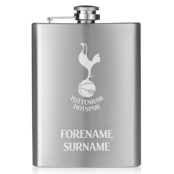 Personalised Tottenham Hotspur FC Crest Hip Flask