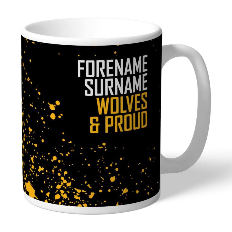Personalised Wolverhampton Wanderers FC Proud Mug