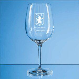 Personalised Aston Villa FC Wine Glass