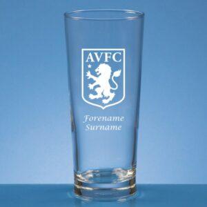 Personalised Aston Villa FC Beer Glass