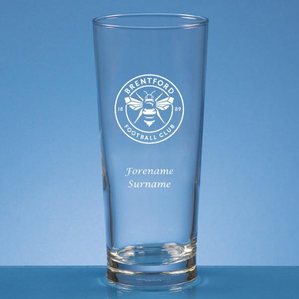 Personalised Brentford FC Beer Glass