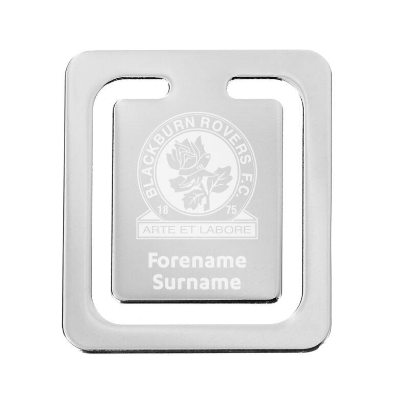 Personalised Blackburn Rovers FC Crest Bookmark
