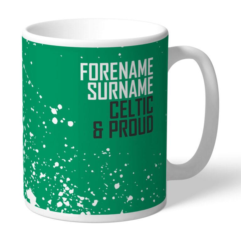 Personalised Celtic FC Proud Mug
