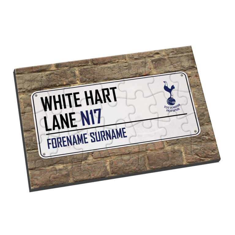 Personalised Tottenham Hotspur FC Street Sign Jigsaw