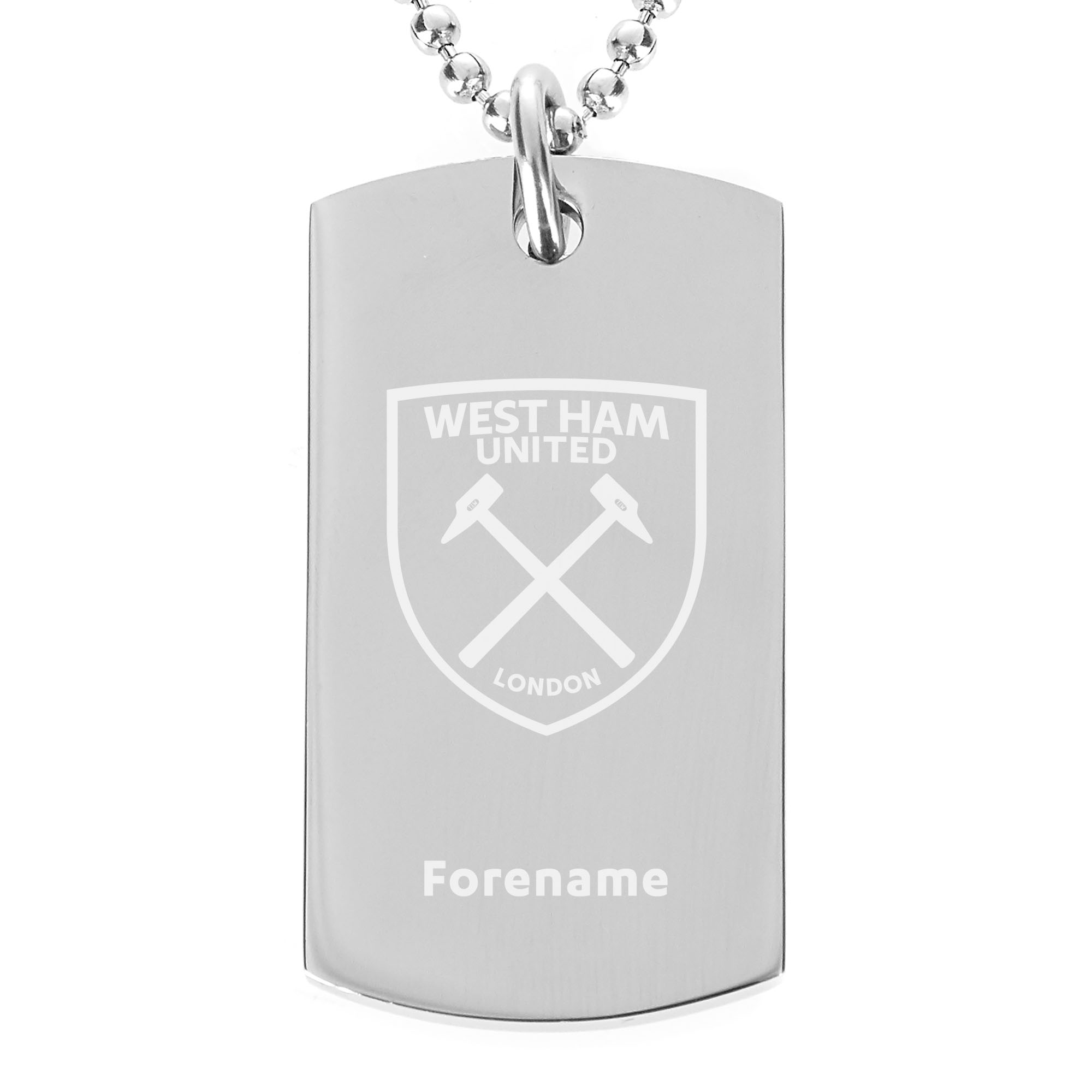 Personalised West Ham United FC Dog Tag