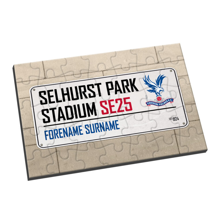 Personalised Crystal Palace FC Street Sign Jigsaw