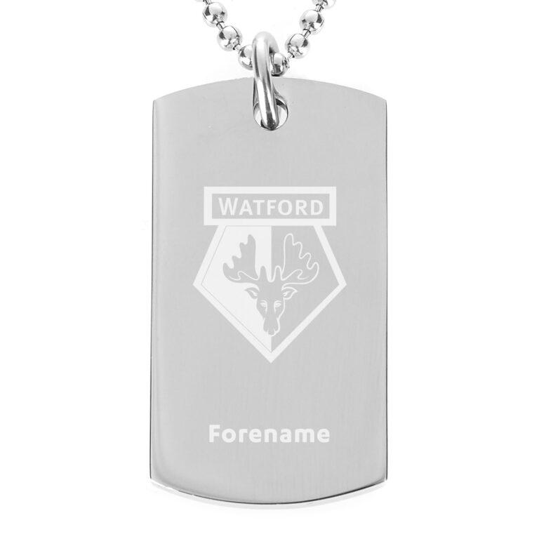 Personalised Watford FC Dog Tag