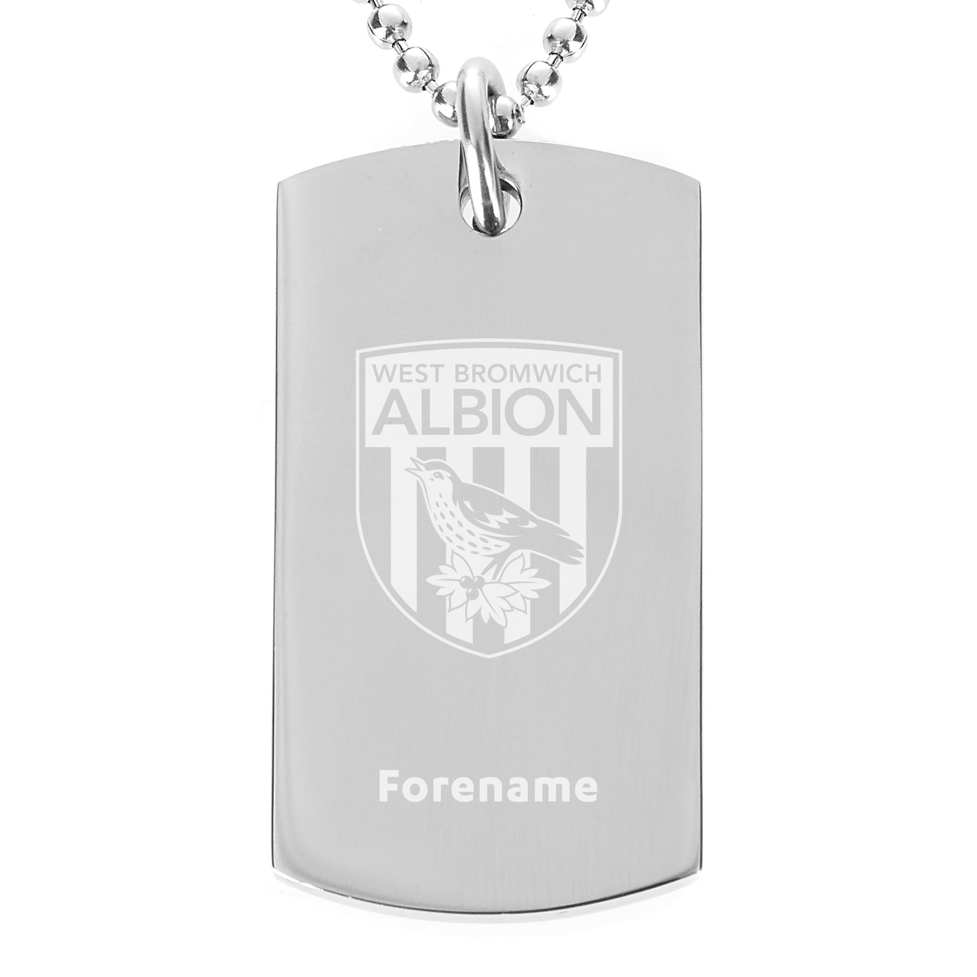 Personalised West Brom FC Dog Tag