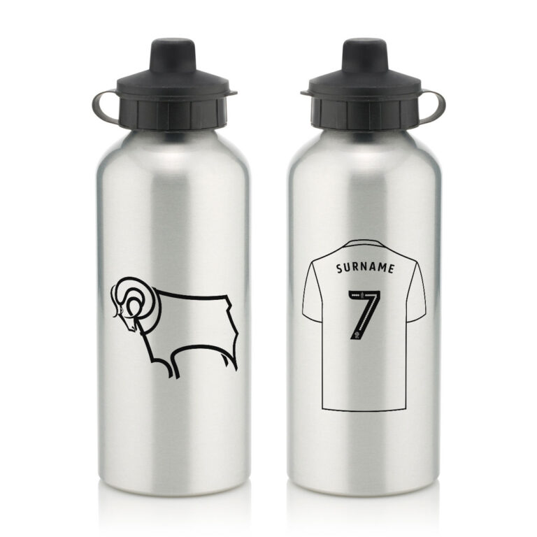 Personalised Derby County FC Aluminium Water Bottle