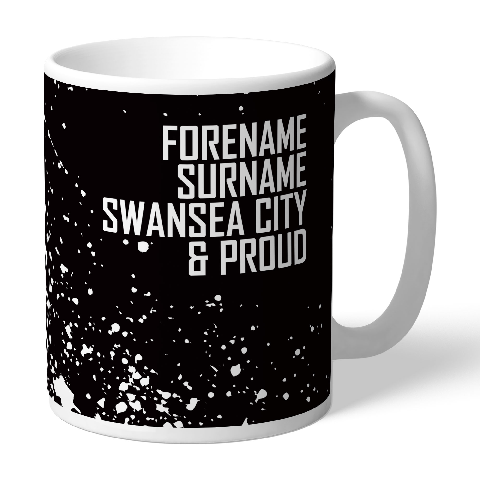 Personalised Swansea City FC Proud Mug