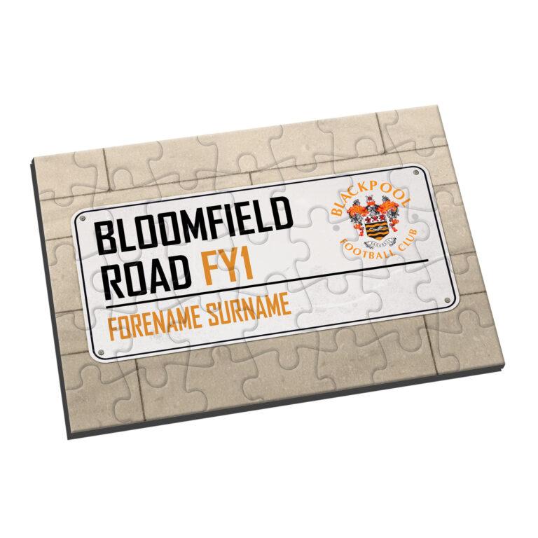 Personalised Blackpool FC Street Sign Jigsaw