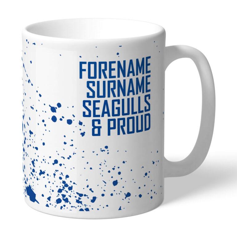 Personalised Brighton & Hove Albion FC Proud Mug