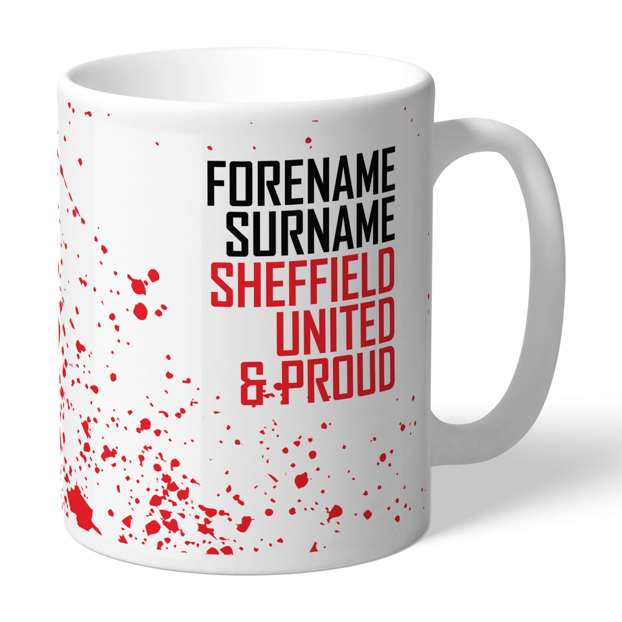 Personalised Sheffield United FC Proud Mug