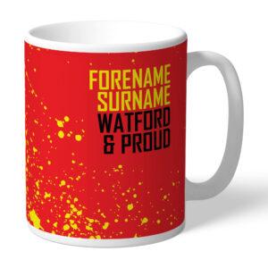 Personalised Watford FC Proud Mug